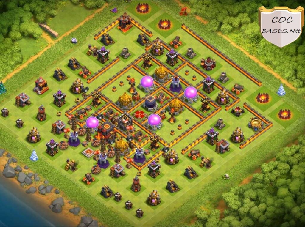 best townhall 10 farming bases