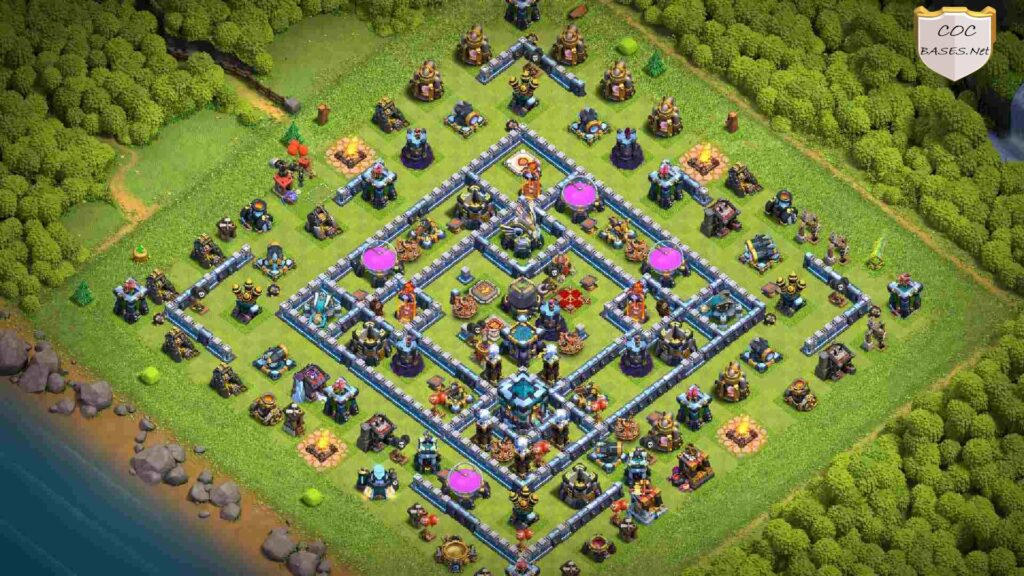 clash of clans th13 farming layout link