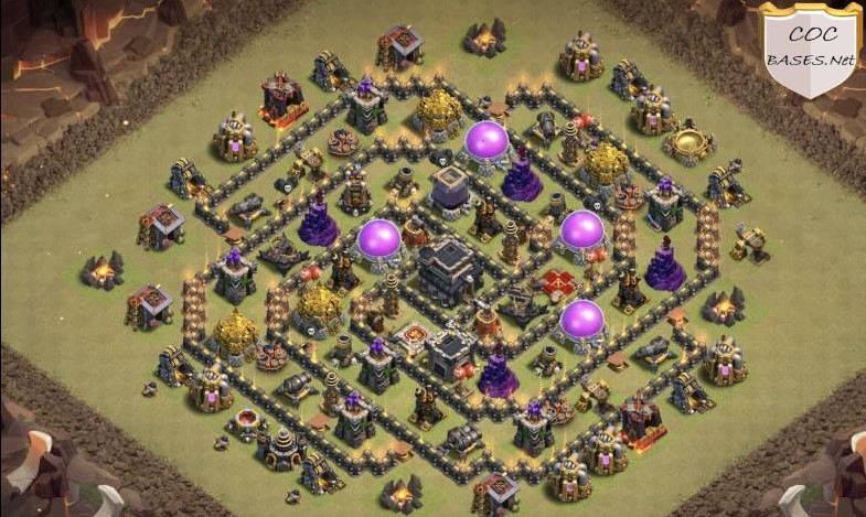 clash of clans th9 war layout link
