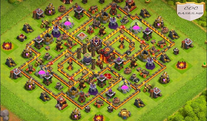 coc th10 farming base layout link