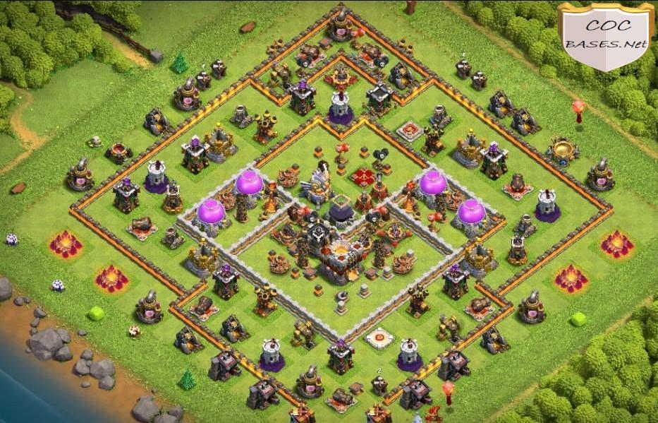 coc th11 farming base layout link