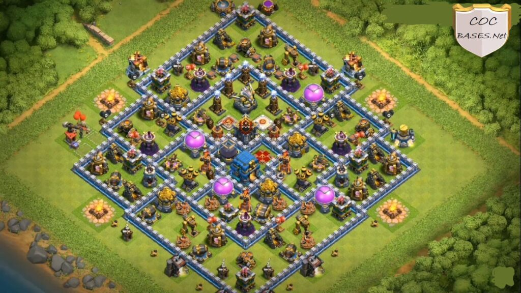coc th12 farming base layout link