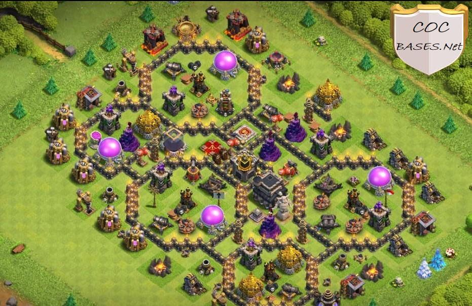 coc th9 farming base layout link