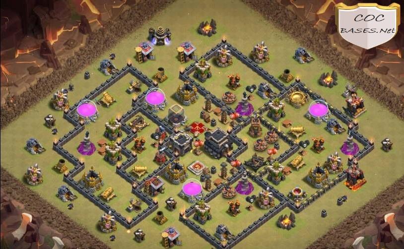 th9 war base anti 2 star