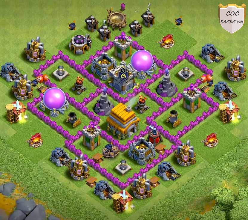 best townhall 6 farming bases