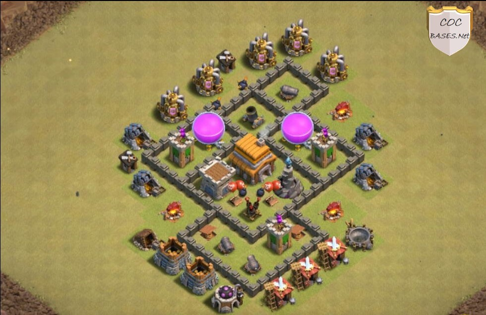 clash of clans th5 war layout link