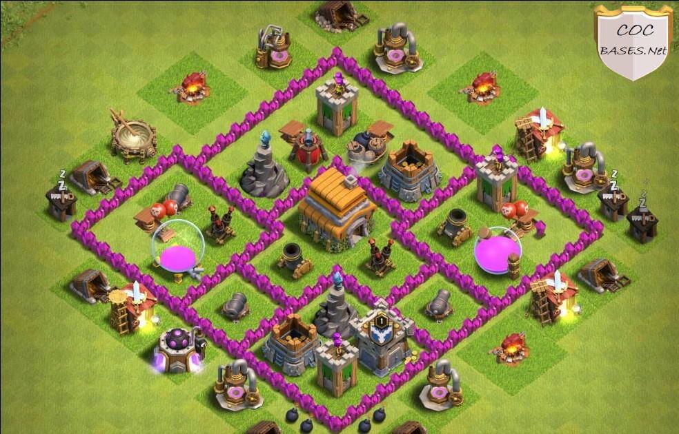 coc th6 farming base layout link