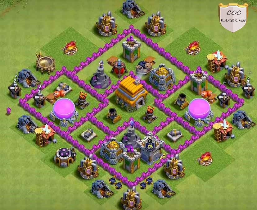 level 6 farming base link anti 3 stars